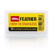 日本 Feather 羽毛牌 白金鍍膜 刮鬍刀片(十片盒裝)
