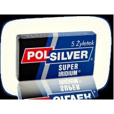 POLSILVER SUPER IRIDIUM 雙面安全刀片 (五片盒裝)