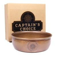 美國 Captains Choice 專業刮鬍皂碗 (銅質)