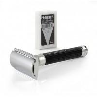 Edwin Jagger 3D 雷射鑽石刻紋 刮鬍刀 純黑