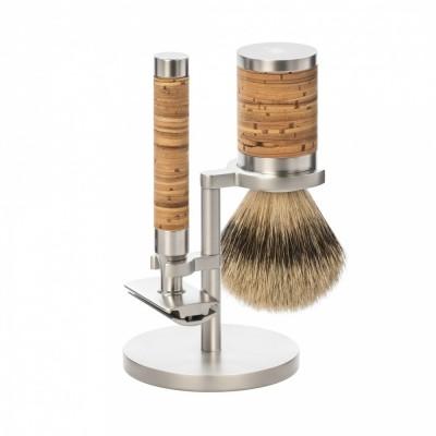 MÜHLE ROCCA R95 不鏽鋼 刮鬍刀組 (樺木)