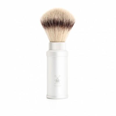 MÜHLE Travel Brush 31M530 鋁銀 旅行刮鬍刷 (合成纖維)