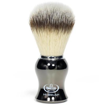 OMEGA 0146276 HI-BRUSH 刮鬍刷 (合成纖維) 槍銅