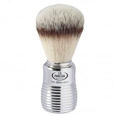 OMEGA 0146113 HI-BRUSH 刮鬍刷 (合成纖維) 鉻銀波浪