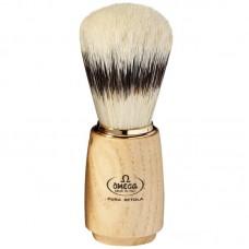 OMEGA 11150 純豬鬃毛 刮鬍刷 白臘木