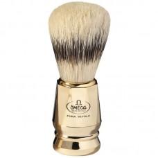 OMEGA 81073 刮鬍刷(純豬鬃毛) 金色高雅