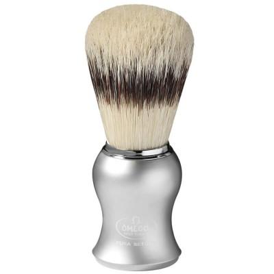 OMEGA 81229  刮鬍刷(純豬鬃毛) 霧銀