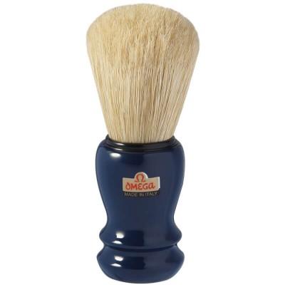 OMEGA 10108 刮鬍刷(純豬鬃毛) 藍