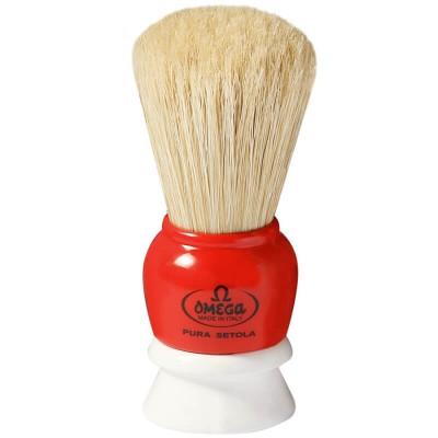 OMEGA 10075 刮鬍刷 (純豬鬃毛) 雙色系列
