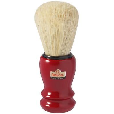 OMEGA 10108 刮鬍刷 (紅)