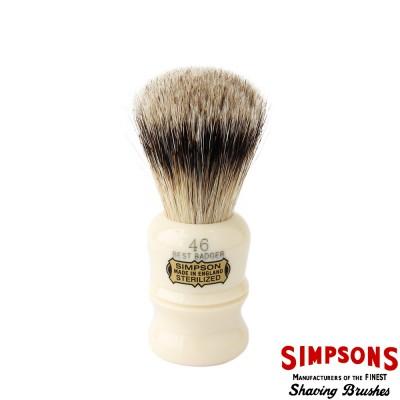 英國 Simpsons Berkeley 46 優質純獾毛 刮鬍刷