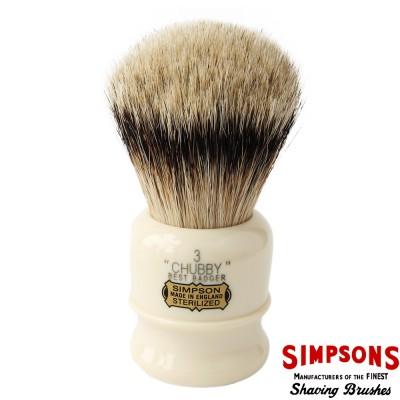 英國 Simpsons Chubby 3 Best Badger 優質獾毛 刮鬍刷