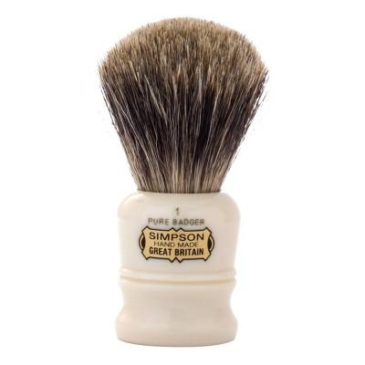 英國 Simpsons Duke D1 Pure Badger 刮鬍刷 (純獾毛)